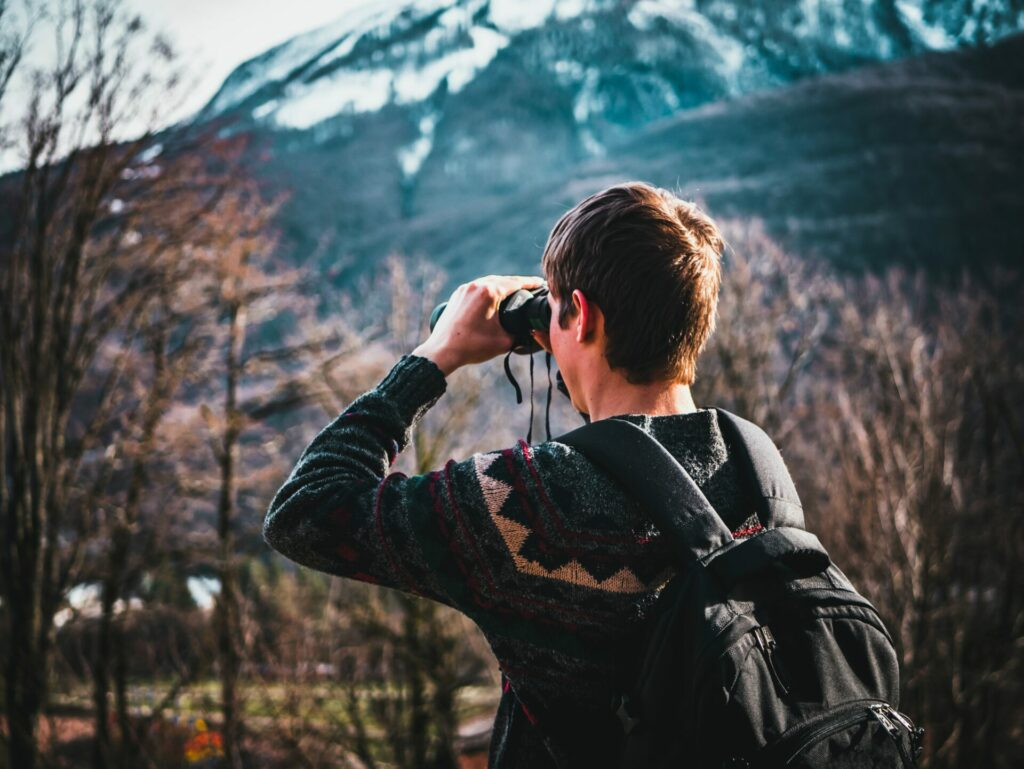 binocolo da montagna